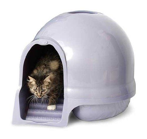 maison de toilette cleanstep pour chats en forme d 39 igloo. Black Bedroom Furniture Sets. Home Design Ideas