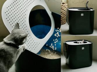 la maison de toilette pour chats acc s vertical modkat. Black Bedroom Furniture Sets. Home Design Ideas