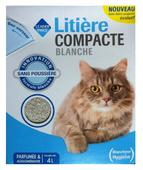 litiere chat blanche
